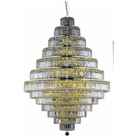 Maxime 38 Light 42 inch Gold Foyer Ceiling Light in Clear, Elegant Cut