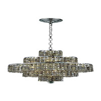 Elegant Lighting Maxim 13 Light Dining Chandelier in Chrome with Swarovski Strass Golden Teak Crystal 2039D20C-GT/SS alternative photo thumbnail