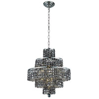 Elegant Lighting 2039D20C-SS/RC Maxime 13 Light 20 inch Chrome Dining Chandelier Ceiling Light in Silver Shade Royal Cut