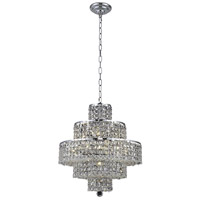 Elegant Lighting 2039D20C/RC Maxime 13 Light 20 inch Chrome Dining Chandelier Ceiling Light in Clear Royal Cut