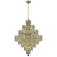 Elegant Lighting Maxim 18 Light Dining Chandelier in Gold with Elegant Cut Clear Crystal 2039D26G/EC