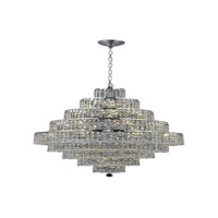 Elegant Lighting Maxim 20 Light Dining Chandelier in Chrome with Spectra Swarovski Clear Crystal 2039D30C/SA alternative photo thumbnail