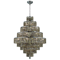 Elegant Lighting Maxim 20 Light Dining Chandelier in Chrome with Swarovski Strass Golden Teak Crystal 2039D30C-GT/SS