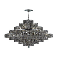 Elegant Lighting 2039D30C-SS/RC Maxim 20 Light 30 inch Chrome Dining Chandelier Ceiling Light in Silver Shade, Royal Cut alternative photo thumbnail