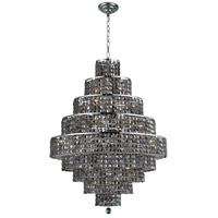 Elegant Lighting 2039D30C-SS/RC Maxim 20 Light 30 inch Chrome Dining Chandelier Ceiling Light in Silver Shade, Royal Cut photo thumbnail