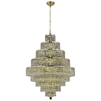 Elegant Lighting Maxim 20 Light Dining Chandelier in Gold with Elegant Cut Clear Crystal 2039D30G/EC