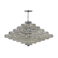Elegant Lighting Maxim 30 Light Dining Chandelier in Chrome with Royal Cut Clear Crystal 2039D32C/RC alternative photo thumbnail
