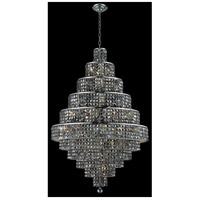 Elegant Lighting Maxim 30 Light Dining Chandelier in Chrome with Swarovski Strass Silver Shade Crystal 2039D32C-SS/SS