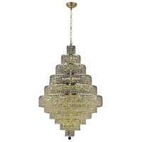 Elegant Lighting Maxim 30 Light Dining Chandelier in Gold with Elegant Cut Clear Crystal 2039D32G/EC