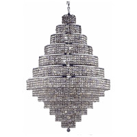 Elegant Lighting Maxim 38 Light Foyer in Chrome with Royal Cut Golden Teak Crystal 2039G42C-GT/RC