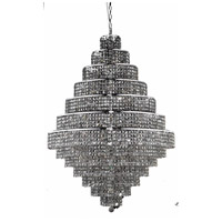 Elegant Lighting Maxim 38 Light Foyer in Chrome with Swarovski Strass Silver Shade Crystal 2039G42C-SS/SS