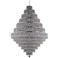 Elegant Lighting Maxim 38 Light Foyer in Chrome with Swarovski Strass Clear Crystal 2039G42C/SS