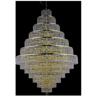 Elegant Lighting Maxim 38 Light Foyer in Gold with Elegant Cut Clear Crystal 2039G42G/EC