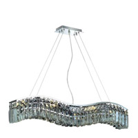 Elegant Lighting Contour 6 Light Dining Chandelier in Chrome with Spectra Swarovski Clear Crystal 2040D30C/SA alternative photo thumbnail