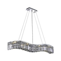 Elegant Lighting Contour 8 Light Dining Chandelier in Chrome with Spectra Swarovski Clear Crystal 2040D36C/SA alternative photo thumbnail