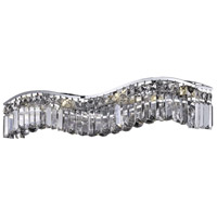 Elegant Lighting Contour 6 Light Vanity in Chrome with Elegant Cut Clear Crystal 2040W30C/EC