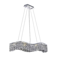 Elegant Lighting Contour 6 Light Dining Chandelier in Chrome with Swarovski Strass Clear Crystal 2041D30C/SS alternative photo thumbnail