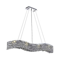 Elegant Lighting Contour 8 Light Dining Chandelier in Chrome with Elegant Cut Clear Crystal 2041D36C/EC alternative photo thumbnail