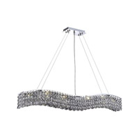Elegant Lighting Contour 10 Light Dining Chandelier in Chrome with Royal Cut Clear Crystal 2041D44C/RC alternative photo thumbnail