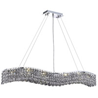 Elegant Lighting Contour 10 Light Dining Chandelier in Chrome with Elegant Cut Clear Crystal 2041D44C/EC