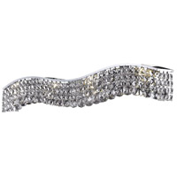 Elegant Lighting Contour 8 Light Vanity in Chrome with Swarovski Strass Clear Crystal 2041W36C/SS