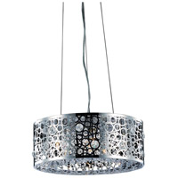 Elegant Lighting Soho 4 Light Pendant in Chrome with Royal Cut Clear Crystal 2051D16C/RC