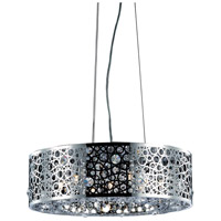 Elegant Lighting Soho 6 Light Dining Chandelier in Chrome with Royal Cut Clear Crystal 2051D20C/RC