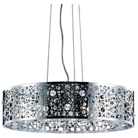 Elegant Lighting Soho 8 Light Dining Chandelier in Chrome with Royal Cut Clear Crystal 2051D24C/RC