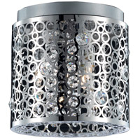 Elegant Lighting Soho 2 Light Flush Mount in Chrome with Royal Cut Clear Crystal 2051F10C/RC