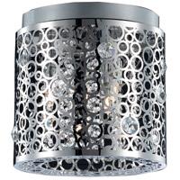 Elegant Lighting 2051F10C/RC Soho 2 Light 10 inch Chrome Flush Mount Ceiling Light