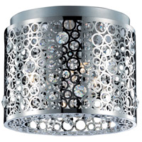 Elegant Lighting Soho 2 Light Flush Mount in Chrome with Royal Cut Clear Crystal 2051F12C/RC