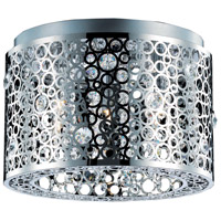 Elegant Lighting Soho 3 Light Flush Mount in Chrome with Royal Cut Clear Crystal 2051F14C/RC