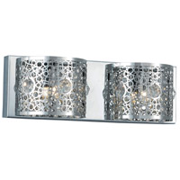 Soho 2 Light 16 inch Chrome Wall Sconce Wall Light