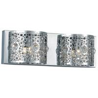 Elegant Lighting 2051W16C/RC Soho 2 Light 16 inch Chrome Wall Sconce Wall Light
