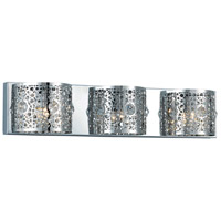 Elegant Lighting Soho 3 Light Wall Sconce in Chrome with Royal Cut Clear Crystal 2051W24C/RC