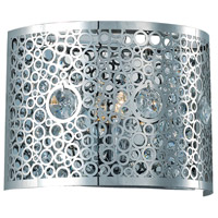 Elegant Lighting Soho 1 Light Wall Sconce in Chrome with Royal Cut Clear Crystal 2051W8C/RC