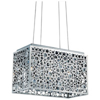 Elegant Lighting Soho 3 Light Pendant in Chrome with Royal Cut Clear Crystal 2052D18C/RC