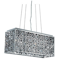 Elegant Lighting Soho 4 Light Dining Chandelier in Chrome with Royal Cut Clear Crystal 2052D26C/RC