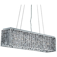 Elegant Lighting Soho 8 Light Dining Chandelier in Chrome with Royal Cut Clear Crystal 2052D46C/RC