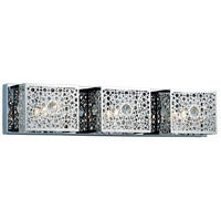Elegant Lighting Soho 3 Light Wall Sconce in Chrome with Royal Cut Clear Crystal 2052W24C/RC