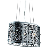Elegant Lighting Soho 3 Light Pendant in Chrome with Royal Cut Clear Crystal 2053D18C/RC