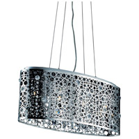 Elegant Lighting Soho 4 Light Dining Chandelier in Chrome with Royal Cut Clear Crystal 2053D26C/RC