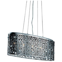 Elegant Lighting Soho 5 Light Dining Chandelier in Chrome with Royal Cut Clear Crystal 2053D32C/RC