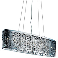 Elegant Lighting Soho 8 Light Dining Chandelier in Chrome with Royal Cut Clear Crystal 2053D46C/RC