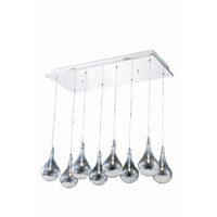 Elegant Lighting Edison 8 Light Pendant in Chrome with Royal Cut Clear Crystal 2054D8O/RC
