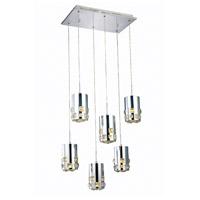 Elegant Lighting 2055D6O/RC Broadway LED 11 inch Chrome Pendant Ceiling Light