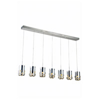 Elegant Lighting Broadway 7 Light LED Pendant in Chrome with Royal Cut Clear Crystal 2055D7O/RC