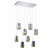 Elegant Lighting Broadway 8 Light LED Pendant in Chrome with Royal Cut Clear Crystal 2055D8O/RC