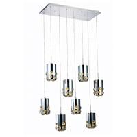 Elegant Lighting 2055D8O/RC Broadway LED 11 inch Chrome Pendant Ceiling Light