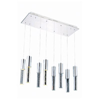Elegant Lighting Diva 8 Light LED Pendant in Chrome with Royal Cut Clear Crystal 2056D8O/RC